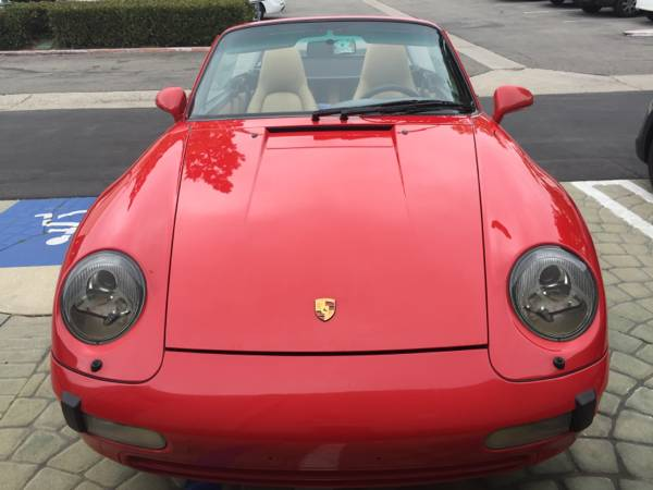 Porsche 993 for Sale - 1995 - Convertible in Guards Red
